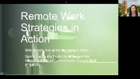 Thumbnail for entry Remote Work Strategies in Action