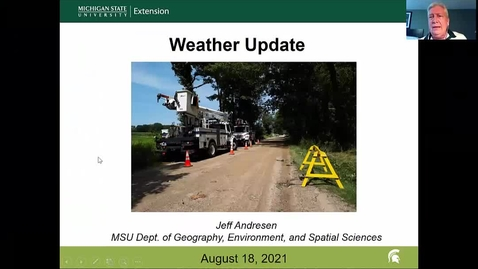 Thumbnail for entry Agricultural weather forecast for August 18, 2021