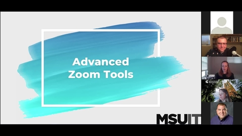 Thumbnail for entry IT Virtual Workshop - Advanced Zoom
