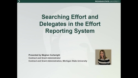 Thumbnail for entry Searching Effort and Delegates in the Effort Reporting System (M. Cartwright)