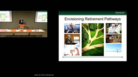 Thumbnail for entry Envisioning Retirement Pathways- Event from February 2, 2018