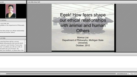 Thumbnail for entry Eeek! How fears shape our ethical relationships with animal and human 'others'
