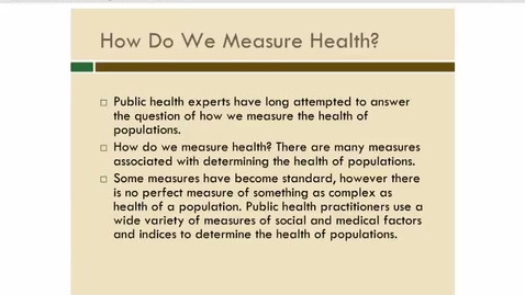 Thumbnail for entry The Measure of Health