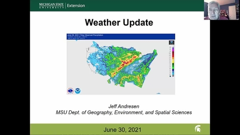 Thumbnail for entry Agricultural weather forecast for June 30, 2021