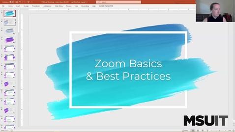 Thumbnail for entry IT Virtual Workshop - Zoom Basics (08.27.2021)
