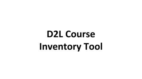 Thumbnail for entry D2L Inventory Tool