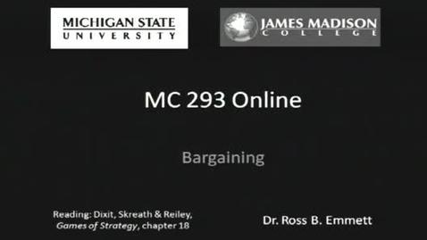 Thumbnail for entry Bargaining