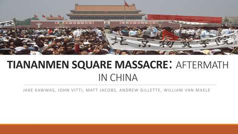 Thumbnail for entry TIANANMEN SQUARE: THE AFTERMATH IN CHINA (UPDATED)