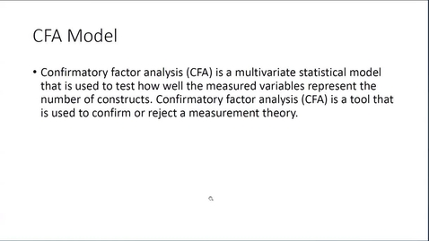 Thumbnail for entry CSTAT Day - Intro to Confirmatory Factor Analysis (CFA)