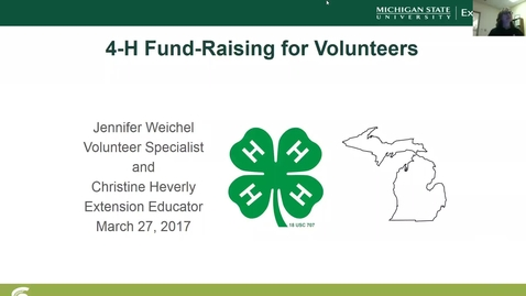 Thumbnail for entry 4-H Fund-Raising for Volunteers