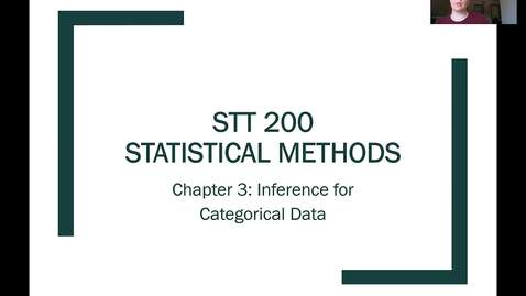 Thumbnail for entry STT 200 Sampling Distributions for a Single Proportion 1