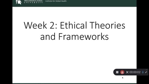 Thumbnail for entry OST 825 Gifford: Wk 2 Ethical Theories and Frameworks: Normative Ethics