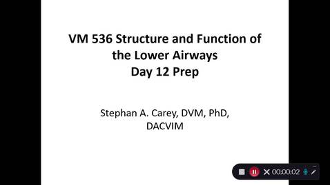 Thumbnail for entry VM 536-Day 12 Prep Lower Airway Structure and Function