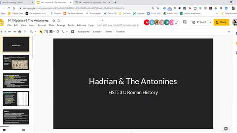 Thumbnail for entry Lecture 14.1 Hadrian  & The Antonines