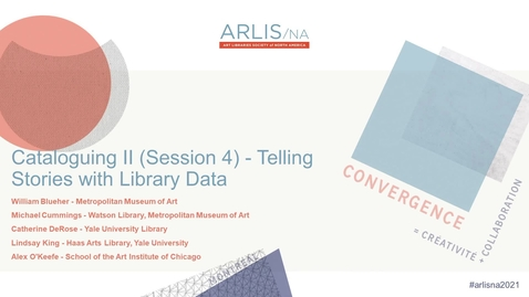 Thumbnail for entry Telling Stories with Library Data: Visualization Projects and Tools