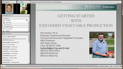 Thumbnail for entry Expanded Vegetable Production