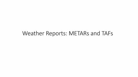 Thumbnail for entry METAR Interpretation