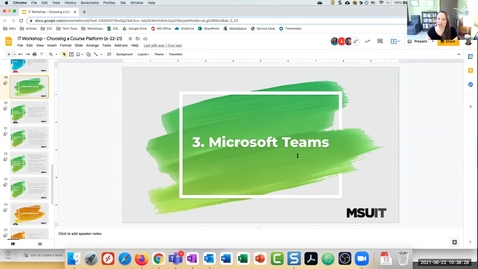 Thumbnail for entry Choosing a Course Platform: MS Teams