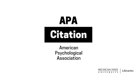 Thumbnail for entry APA Citation (6th ed.)