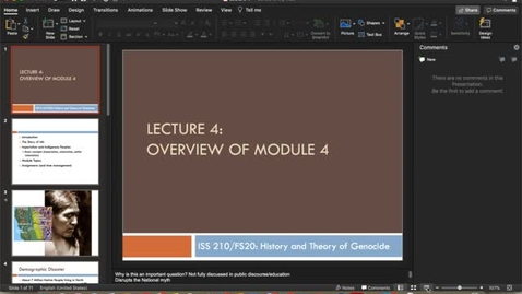 Thumbnail for entry Lecture 4 - Part 1