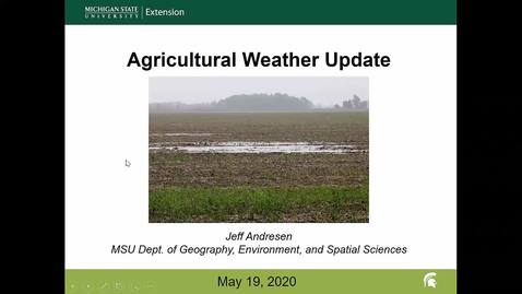 Thumbnail for entry Agricultural weather forecast for May 19, 2020