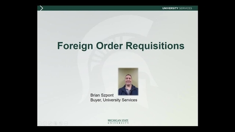Thumbnail for entry International Research II: Foreign Order Requisitions (B. Szpont)