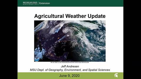 Thumbnail for entry Agricultural weather forecast for June 9, 2020