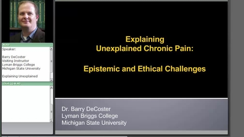 Thumbnail for entry Explaining Unexplained Chronic Pain: Epistemic and Ethical Challenges
