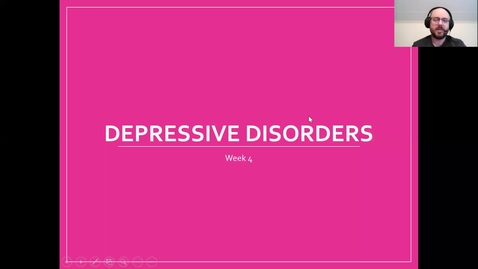 Thumbnail for entry Depressive Disorders