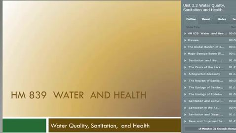 Thumbnail for entry HM839WaterQualitySanitationandHealth
