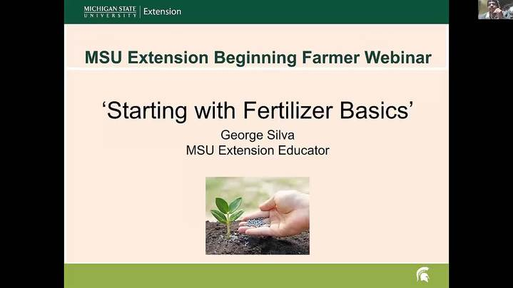 Thumbnail for channel MSU Extension Beginning Farmer Webinar Series