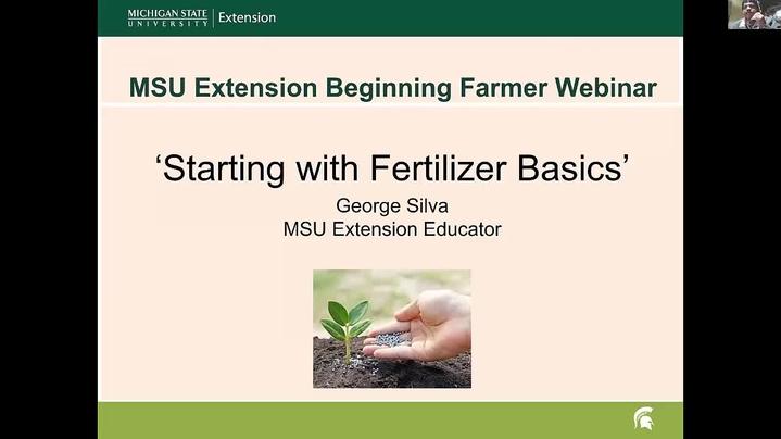 Thumbnail for channel MSU Extension Beginning Farmer Webinar Series