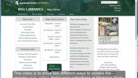 Thumbnail for entry Licensed Online Maps from the MSU Map Library