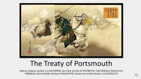 Thumbnail for entry DH project-- Treaty of Portsmouth