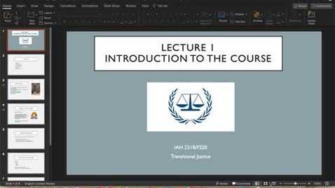 Thumbnail for entry Lecture 1: Introduction to the Course