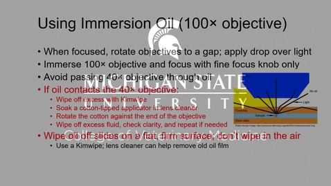 Thumbnail for entry VM 523-Use of immersion oil