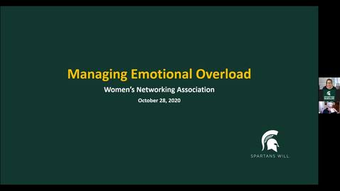 Thumbnail for entry WNA: Managing Emotional Overload (Lisa Laughman)