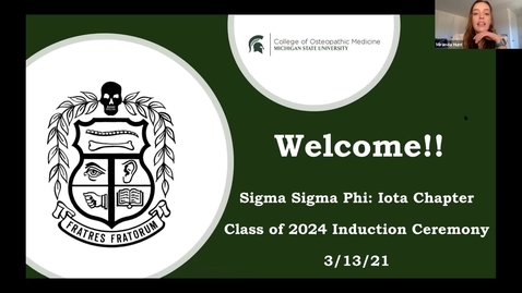 Thumbnail for entry 03.13.2021 Sigma Sigma Phi Initiation Ceremony