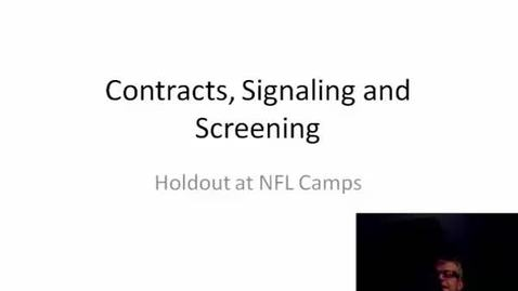 Thumbnail for entry contracts, screening, and signalling