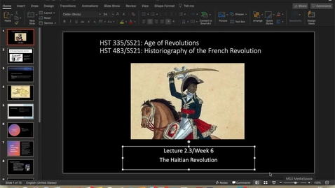 Thumbnail for entry Lecture 2.3/Week 6: The Haitian Revolution