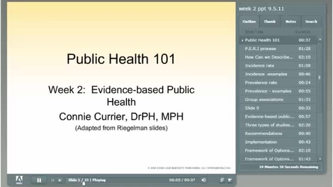 Thumbnail for entry HM101 Mod-2-OLD-Module-2----Adobe-Presentation-Evidence-based-public-healthPart-1