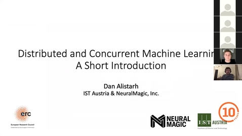 Thumbnail for entry SSS 2020: Day 4: Tutorial 3: High Performance Concurrent Deep Learning by Dan Alistarh