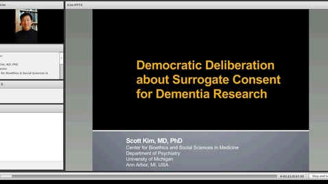 Thumbnail for entry Democratic Deliberation about Surrogate Consent for Dementia Research