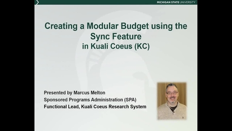 Thumbnail for entry Creating a Modular Budget in Kuali Coeus