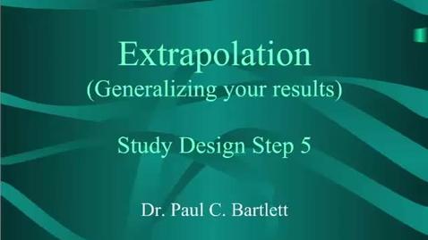 Thumbnail for entry HM803 Extrapolation