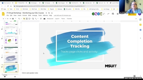 Thumbnail for entry Monitoring Your D2L Course: Content Completion Tracking