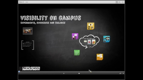 Thumbnail for entry Visibility on Campus: Experiments, Successes and Failures