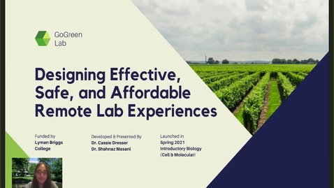 Thumbnail for entry The GoGreen Lab Stream- Designing effective, safe and affordable remote lab experiences
