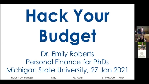 Thumbnail for entry Hack Your Budget webinar
