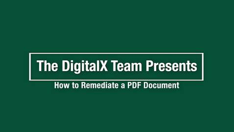 Thumbnail for entry How to Remediate a PDF Document